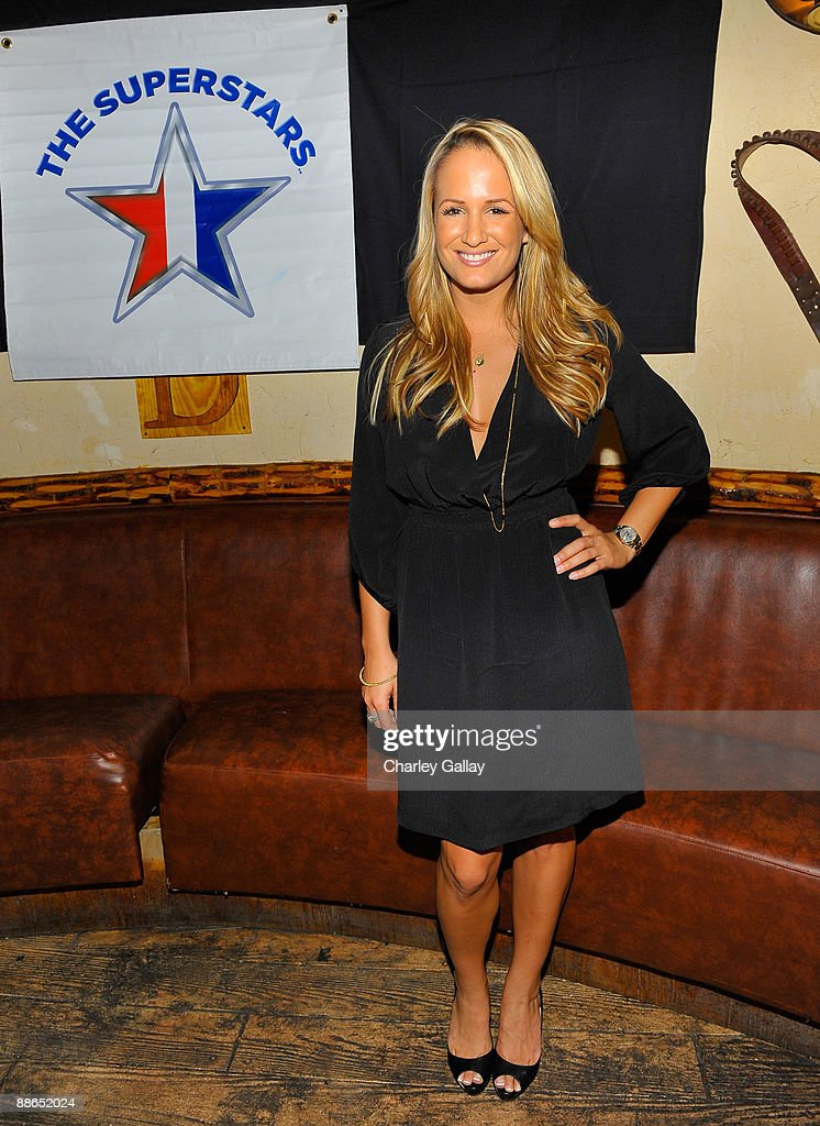 Television personality Jenn Brown attends ABC Television & Juma Entertainment's 'The Superstars' premiere party at Saddle Ranch on June 23, 2009 in Universal City, California.