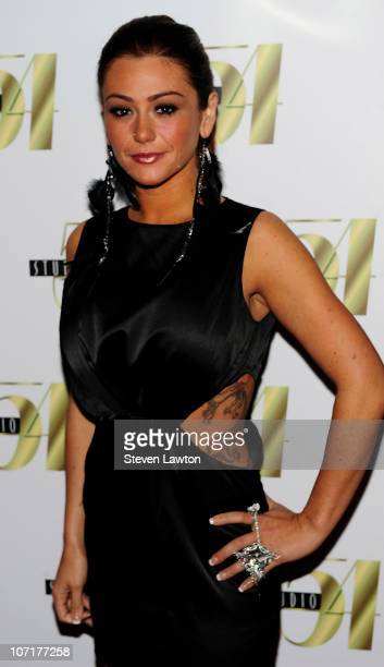 Television personality Jenni 'JWoww' Farley arrives to host an evening at Studio 54 at MGM Grand on November 27 2010 in Las Vegas Nevada