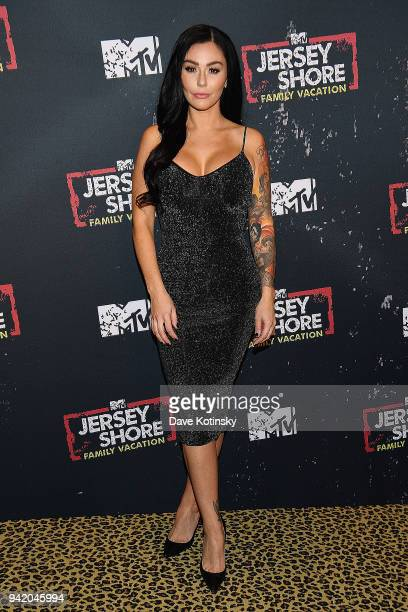 Television personality Jenni 'JWoww' Farley attends MTV's 'Jersey Shore Family Vacation' New York premiere party at PHD at the Dream Downtown on...