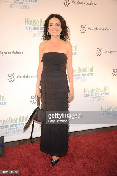 Television personality Jenni Pulos attends House Beautiful's 2010 Kitchen Of The Year opening night in Rockefeller Center on July 19 2010 in New York...