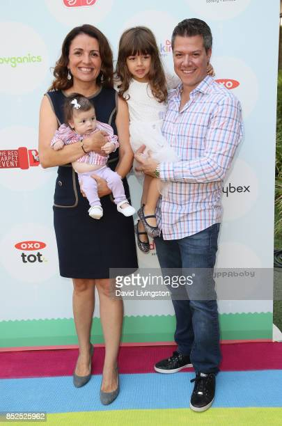 Television personality Jenni Pulos Georgia Grace Nassos Alianna Nassos and Jonathan Nassos attend the 6th Annual Celebrity Red CARpet Safety...