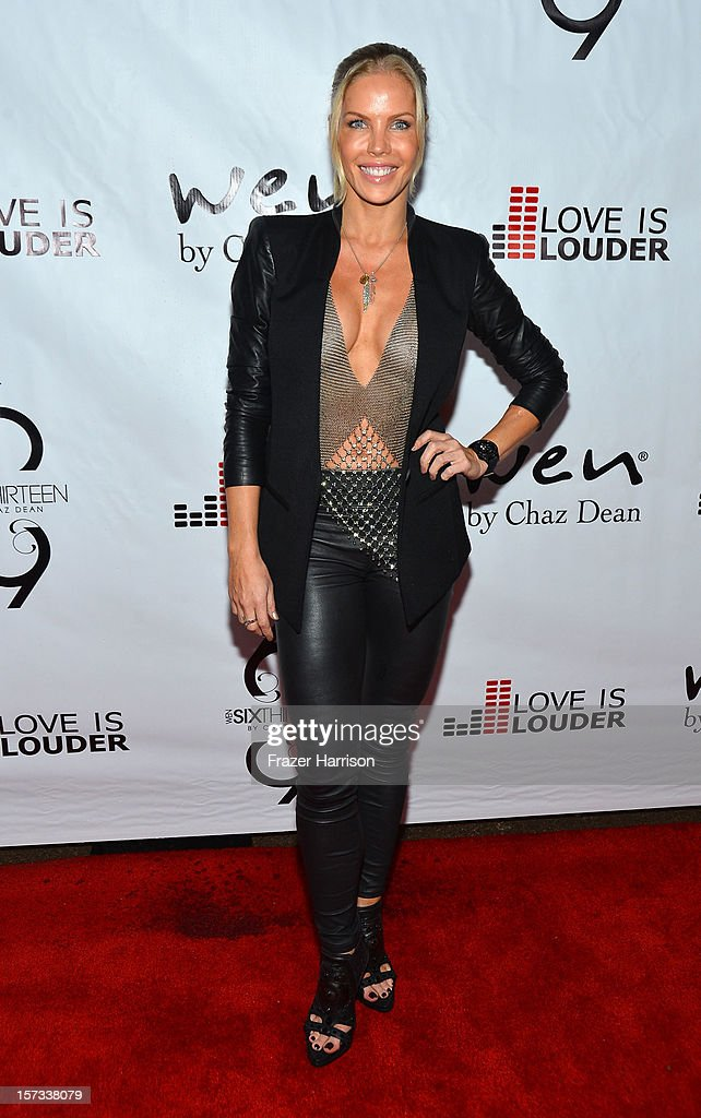 Television Personality Jessica Canseco arrives at Chaz Dean's Holiday Party Benefitting the Love is Louder Movement on December 1, 2012 in Los Angeles, California.