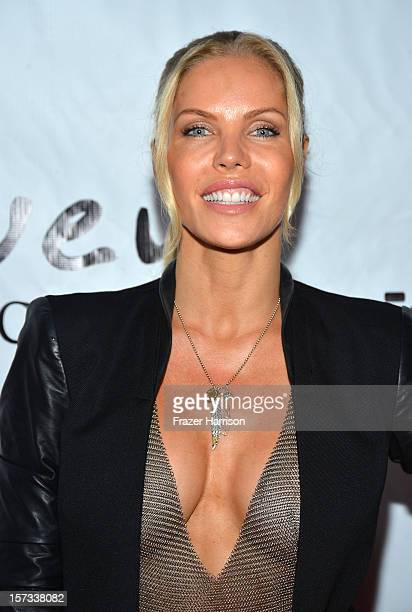 Television Personality Jessica Canseco arrives at Chaz Dean's Holiday Party Benefitting the Love is Louder Movement on December 1 2012 in Los Angeles...