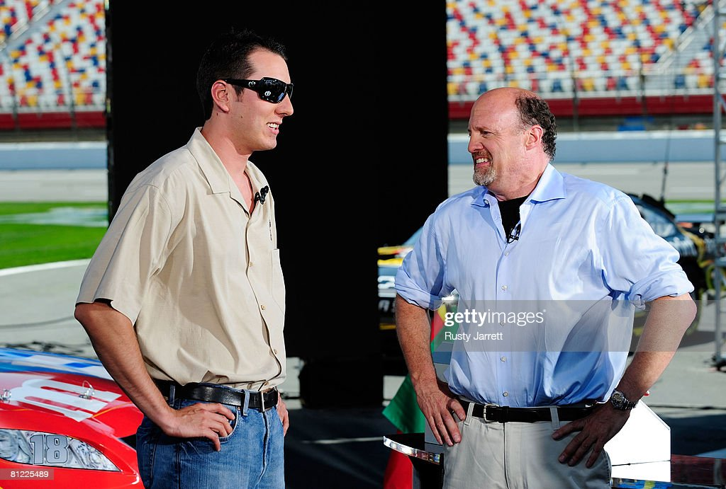 Jim Cramer Interviews NASCAR Drivers : News Photo