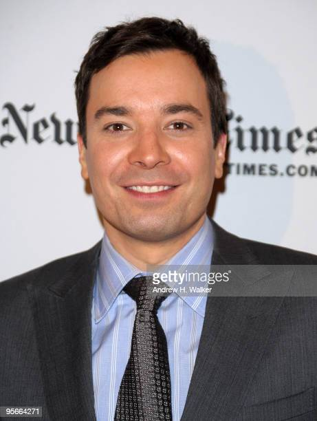 Television personality Jimmy Fallon attends the 9th Annual New York Times Arts Leisure Weekend at The Times Center on January 8 2010 in New York City