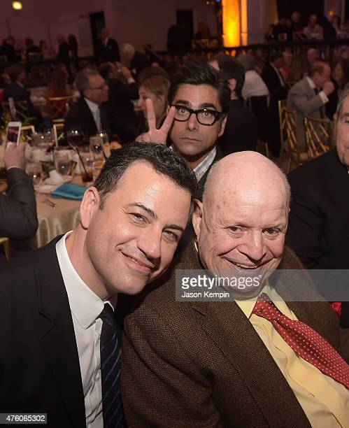 Television Personality Jimmy Kimmel actor John Stamos and comedian Don Rickles attend the 'Cool Comedy Hot Cuisine' To Benefit The Scleroderma...