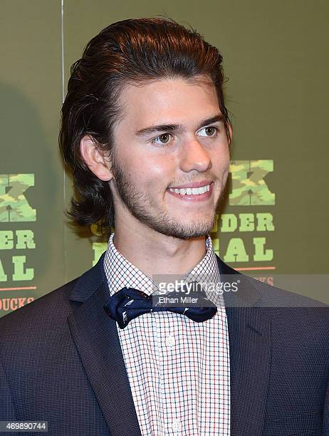 Television personality John Luke Robertson attends the Duck Commander Musical premiere at the Crown Theater at the Rio Hotel Casino on April 15 2015...