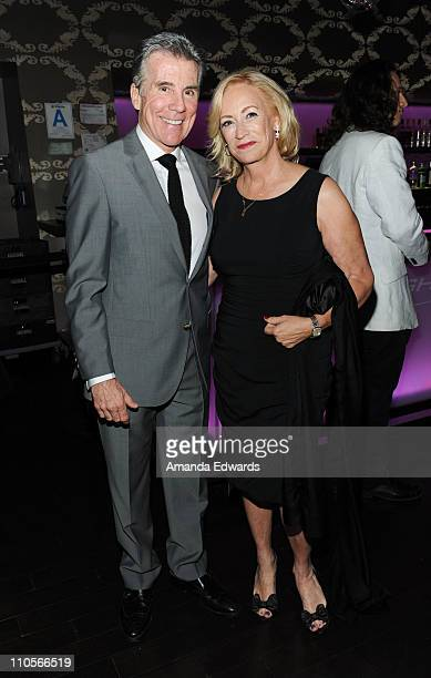 Television personality John Walsh and his wife Reve Drew attend the 2011 AFTRA AMEE Awards cocktail reception at Club Nokia At LA Live on March 21...