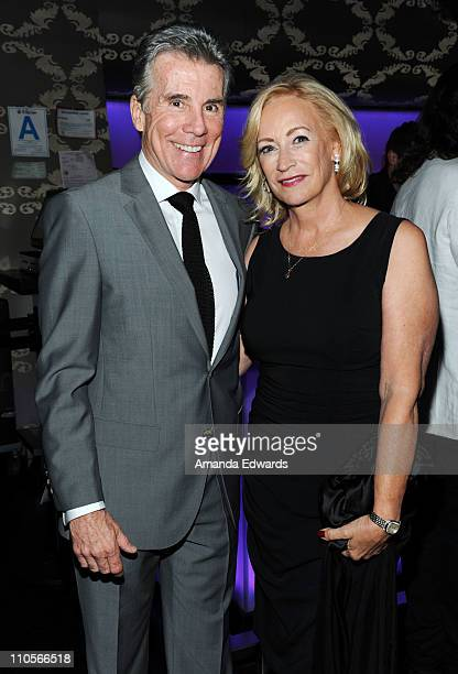 Television personality John Walsh and his wife Reve Walsh attend the 2011 AFTRA AMEE Awards cocktail reception at Club Nokia At LA Live on March 21...