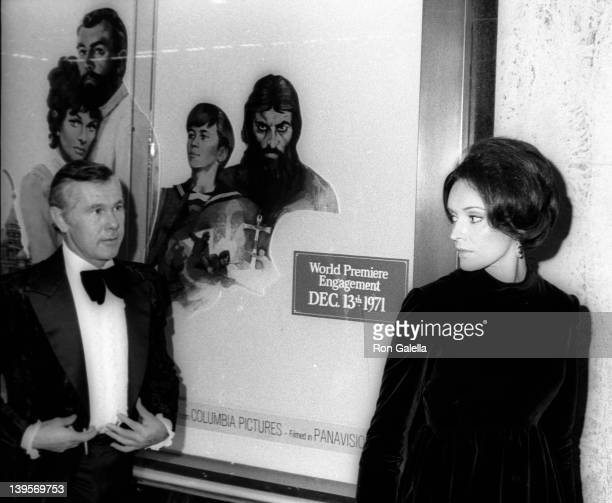 Television Personality Johnny Caron and wife Joanna Carson Holland attend the premiere party for Nicholas and Alexandra on December 8 1971 at El...