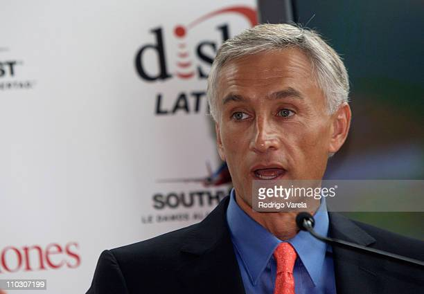 Television personality Jorge Ramos attends at the Selecciones Generation Latino 2007 at Bongos on October 3 2007 in Miami Florida