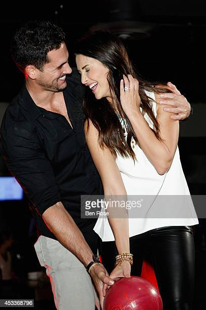 Television personality Josh Murray and television personality Andi Dorfman attend a surprise birthday party for Josh Murray thrown by fiance...