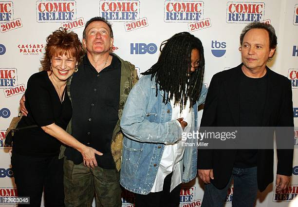 Television personality Joy Behar jokes with Comic Relief 2006 show at The Colosseum at Caesars Palace November 18 2006 in Las Vegas Nevada The...