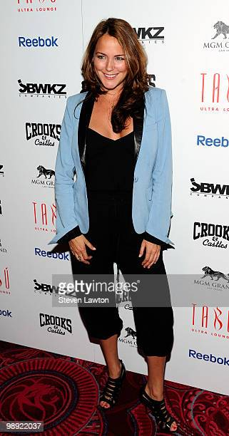 Television personality Julia Anderson arrives at the Tabu Ultra Lounge at MGM Grand Hotel/Casino for the opening night of the JabbaWockeez dance crew...