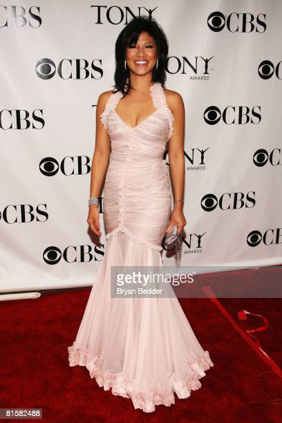 Television personality Julie Chen arrives at the 62nd Annual Tony Awards held at Radio City Music Hall on June 15 2008 in New York City