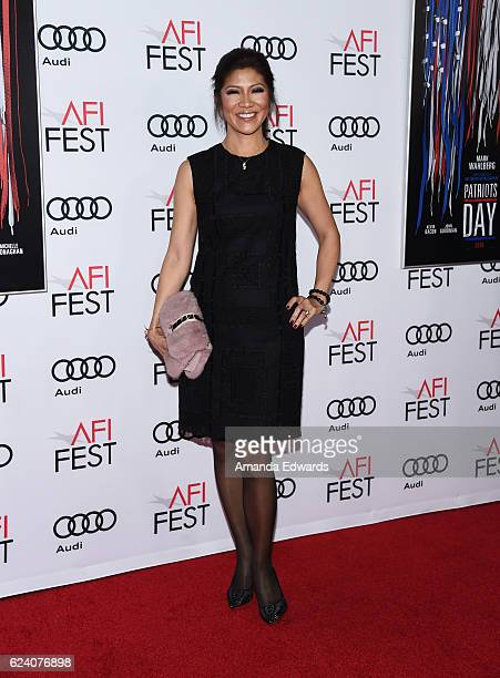Television personality Julie Chen arrives at the AFI FEST 2016 Presented by Audi Closing Night Gala Screening of Lionsgate's 'Patriots Day' at TCL...