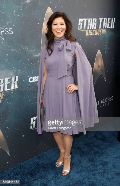 Television personality Julie Chen attends the premiere of CBS's 'Star Trek Discovery' at The Cinerama Dome on September 19 2017 in Los Angeles...