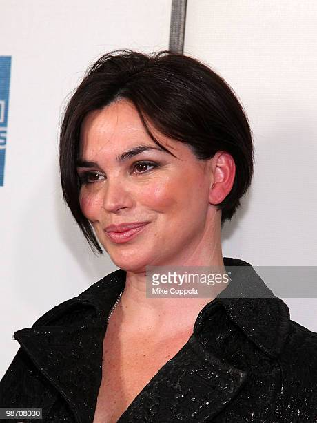 """Television personality Karen Duffy attends the """"Get Low"""" premiere during the 9th Annual Tribeca Film Festival at the Tribeca Performing Arts Center..."""