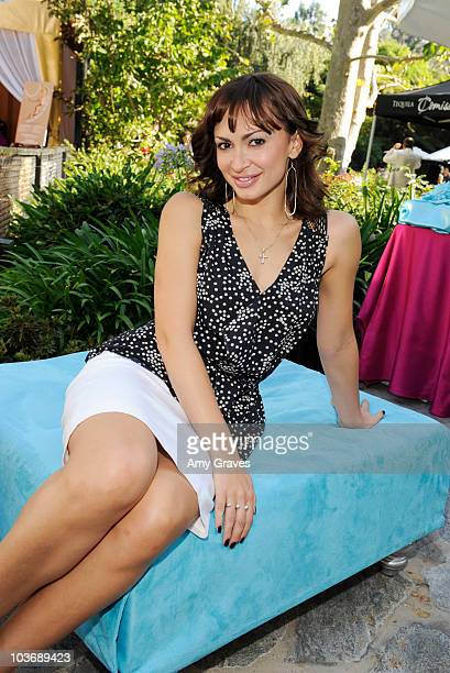Television personality Karina Smirnoff attends the BellaStyle Garden Event on August 27 2010 in Los Angeles California