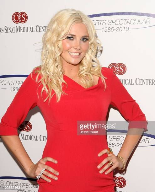 Television personality Karissa Shannon arrives at the 25th anniversary of CedarsSinai Sports Spectacular at the Hyatt Regency Century Plaza on May 23...