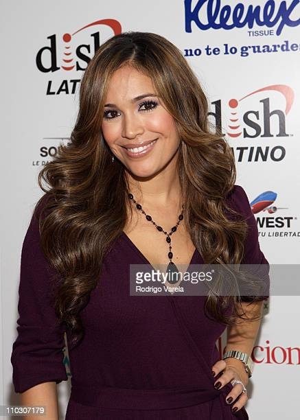 Television personality Karla Martinez attends at the 'Selecciones Generation Latino 2007' at Bongos on October 3 2007 in Miami Florida