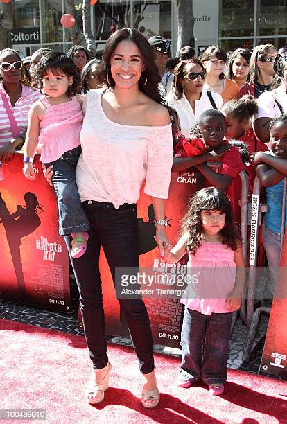 Television personality Karla Martinez attends The Karate Kid screening at Regal South Beach on May 24 2010 in Miami Florida