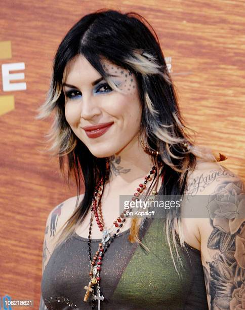 Television personality Kat von D arrives at Spike TV's 2nd Annual Guys Choice Awards at Sony Studios on May 30 2008 in Culver City California