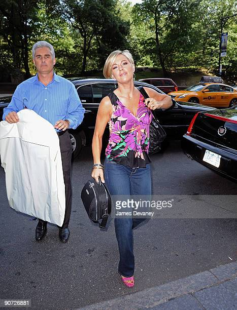 Television personality Kate Gosselin and bodyguard Steve Neild walk on the streets of Manhattan on September 14 2009 in New York City