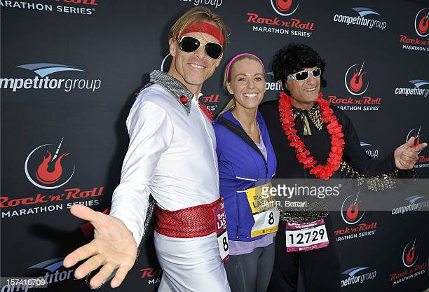 Television personality Kate Gosselin arrives with two Elvis Presley impersonators at the Zapposcom Rock 'n' Roll Las Vegas Marathon and HalfMarathon...