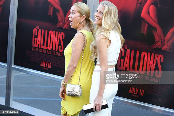 Television personality Kathie Lee Gifford and actress Cassidy Gifford attend the premiere of New Line Cinema's 'The Gallows' at Hollywood High School...