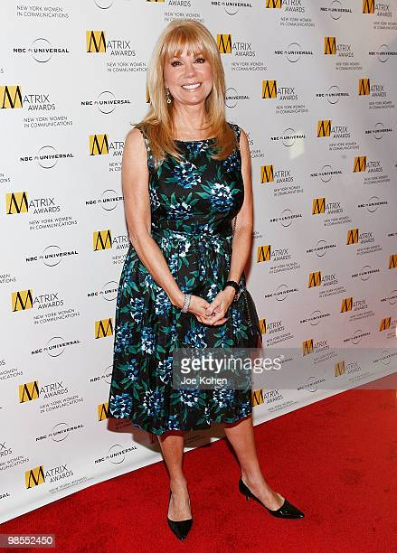 Television personality Kathie Lee Gifford attends the 2010 Matrix Awards presented by New York Women in Communications at The Waldorf=Astoria on...