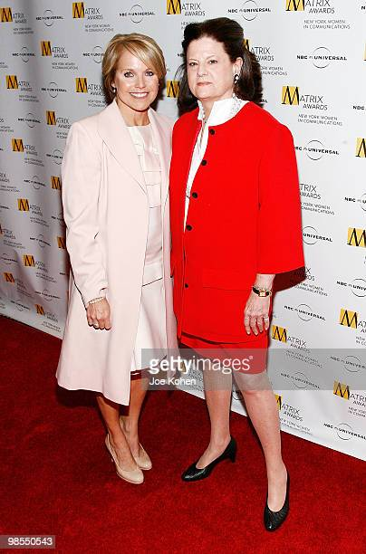 Television personality Katie Couric and senior vice president of public relations special events corporate philanthropy for Bloomingdale's Anne...