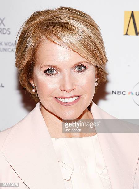 Television personality Katie Couric attends the 2010 Matrix Awards presented by New York Women in Communications at The Waldorf=Astoria on April 19...
