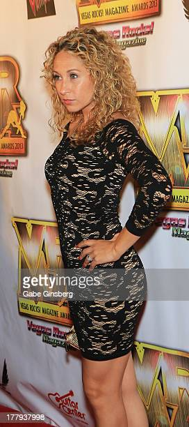 Television personality Katie Daryl arrives at the 2013 Vegas Rocks magazine music awards at The Joint inside the Hard Rock Hotel Casino on August 25...