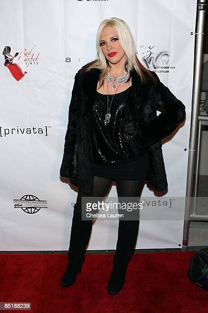 Television personality Kayley Gable from Paris Hilton's BFF attends Somaya Reece's Video Release Party at AREA Night Club on February 25 2009 in...