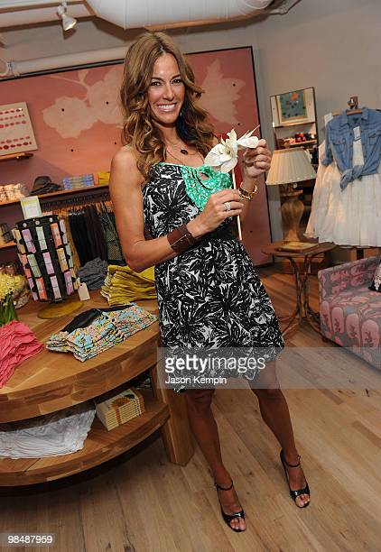 Television personality Kelly Bensimon attends the opening celebration of Anthropologie Chelsea Market at Anthropologie on April 15 2010 in New York...
