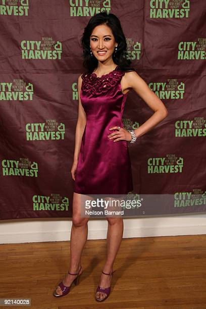 Television personality Kelly Choi attends City Harvest's 15th Annual Bid Against Hunger restaurant tasting event at Metropolitan Pavilion on October...