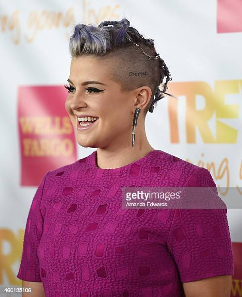 Television personality Kelly Osbourne arrives at the TrevorLIVE Los Angeles benefit event at the Hollywood Palladium on December 7 2014 in Los...