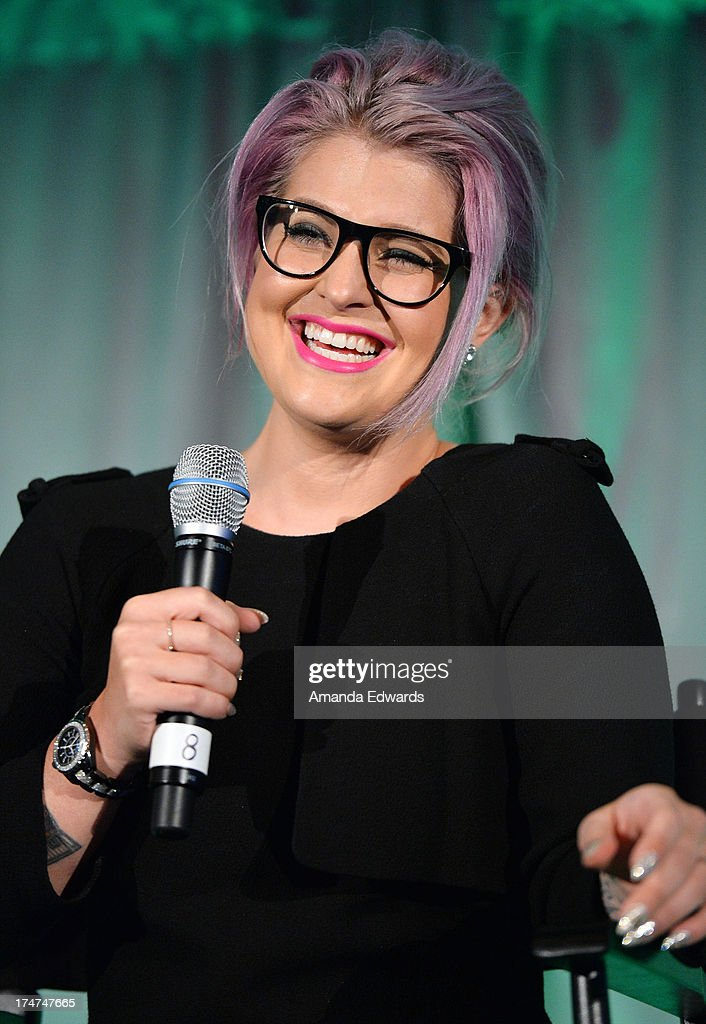 Television personality Kelly Osbourne serves as a guest speaker at the LEAP Foundation Scholarship Program at UCLA on July 28, 2013 in Los Angeles, California.