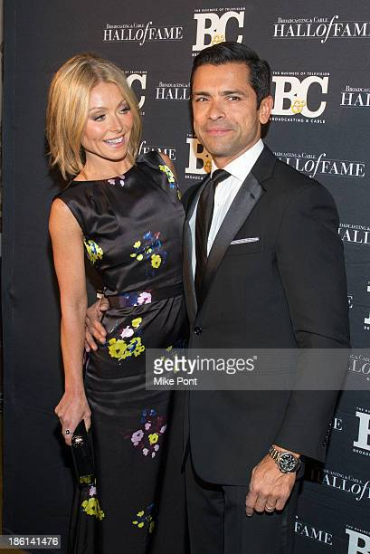 Television Personality Kelly Ripa and Actor Mark Consuelos attend the Broadcasting and Cable 23rd Annual Hall of Fame Awards Dinner at The Waldorf...
