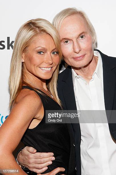 Television personality Kelly Ripa and Dr Frederic Brandt attend Dr Fredric Brandt's SiriusXM launch event at SiriusXM Studio on September 26 2011 in...