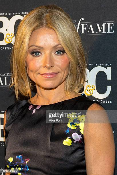 Television Personality Kelly Ripa attends the Broadcasting and Cable 23rd Annual Hall of Fame Awards Dinner at The Waldorf Astoria on October 28 2013...