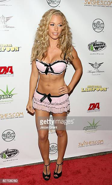 Television personality Kendra Wilkinson arrives at National Lampoon's Night with The Girls Next Door event at the Playboy Mansion on September 6 2008...