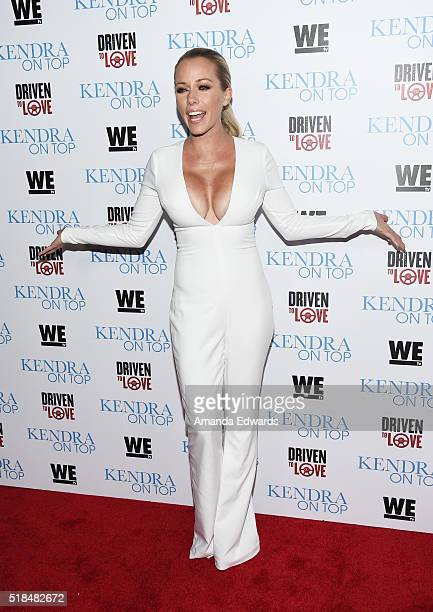 Television personality Kendra Wilkinson arrives at the WE tv celebration of the premiere of 'Kendra On Top' and 'Driven To Love' at Estrella Sunset...