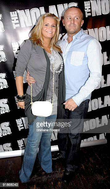 Television personality Kerry Katona and Mark Croft attend The Nolans Aftershow party at Via on October 13 2009 in Manchester England