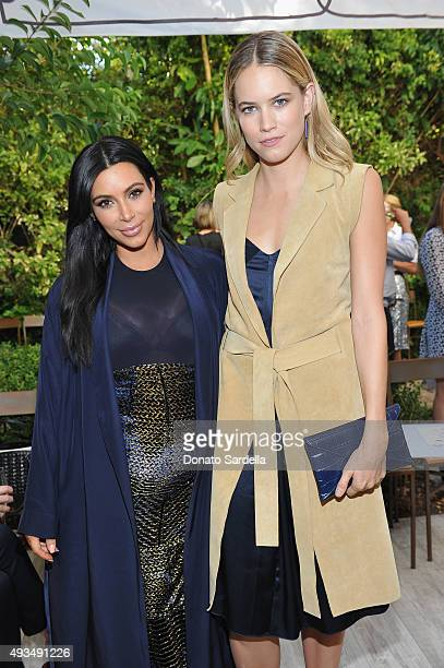 Television Personality Kim Kardashian and actress Cody Horn attend CFDA/Vogue Fashion Fund Show and Tea at Chateau Marmont on October 20 2015 in Los...