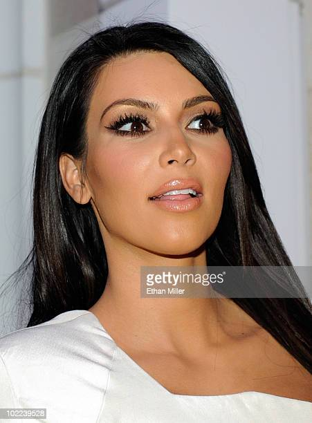 Television personality Kim Kardashian appears at the seventh anniversary party for Vegas Magazine at the Surrender Nightclub at Encore Las Vegas June...