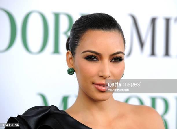 Television personality Kim Kardashian arrives at Kim Kardashian Midori Melon Liqueur launches The Midori Trunk Shows at Trousdale on May 10 2011 in...