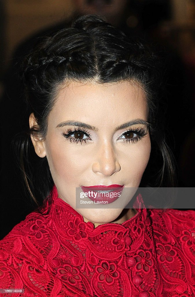 Television personality Kim Kardashian arrives at the Kardashian Khaos store at The Mirage Hotel & Casino for a fan meet-and-greet to support her perfume, Glam, on April 13, 2013 in Las Vegas, Nevada.