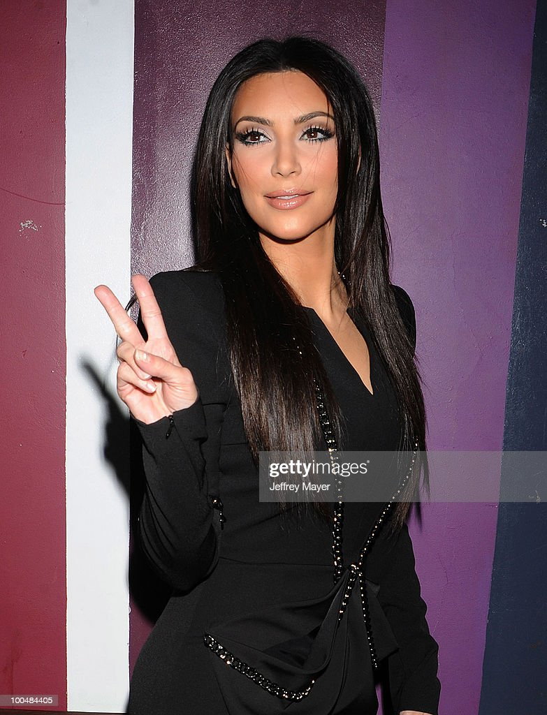 Television Personality Kim Kardashian arrives at the Svedka Vodka's 'R.U. Bot Or Not?' Battle Of The Bots party held at Wonderland on May 22, 2010 in Los Angeles, California.